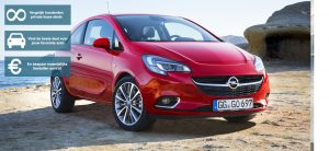 Banner Opel Corsa private lease