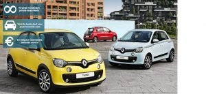 Banner Renault Twingo private lease