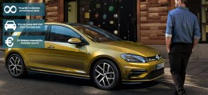 Banner Volkswagen Golf private lease 2