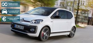 Banner Volkswagen Up! private lease
