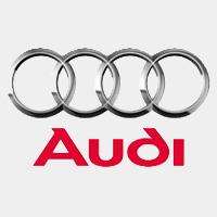 Audi logo grijs