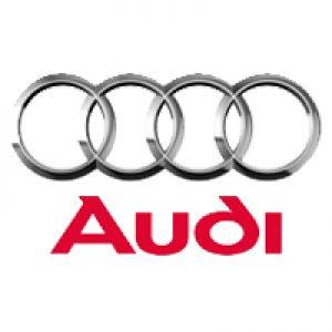 Audi logo wit