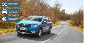 Banner Dacia Logan MCV private lease