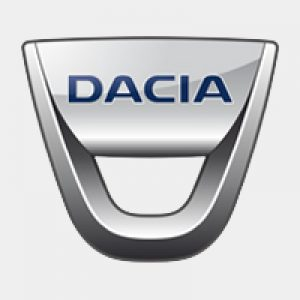 Dacia private lease logo grijs